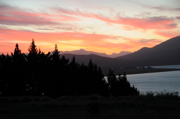new zealand, te anau, south island, best sunsets in the world, greatest sunsets in europe