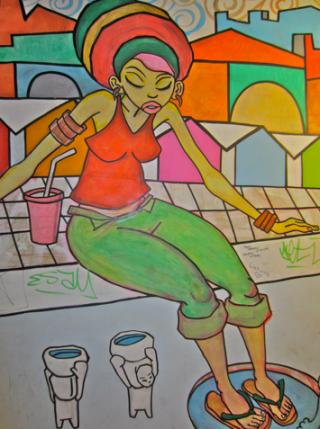 woman graffiti, camden town, camden street art, street art in london, art in london streets, camden lock market