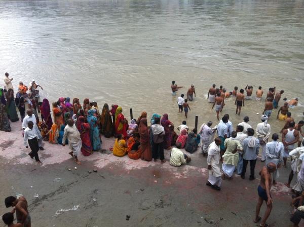 ganja river, rishikesh, india, asia
