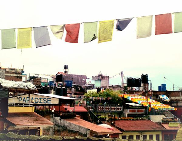 nepali flags, nepal, kathmandu, asia