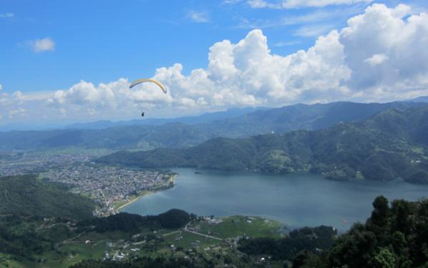 Pokhara, paragliding, nepal, asia