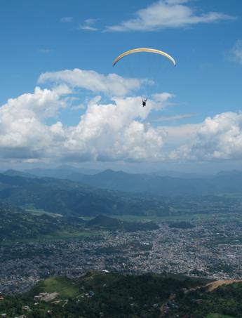 pokhara, nepal, paragliding in nepal, nepal, asia