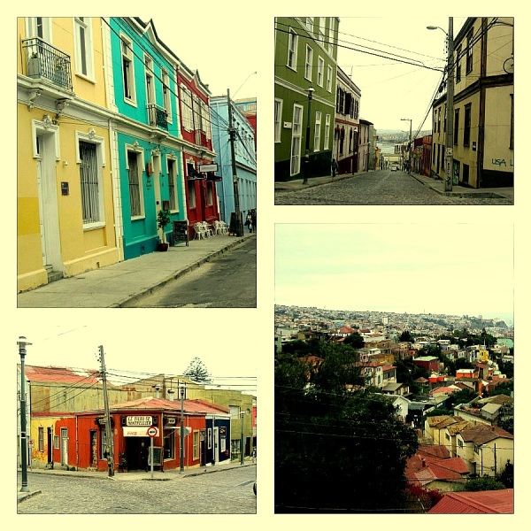 valparaiso, chile, south america, city on a valley, colorful city in chile