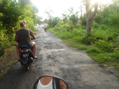 bali, indonesia, renting a scooter, traffic in bali