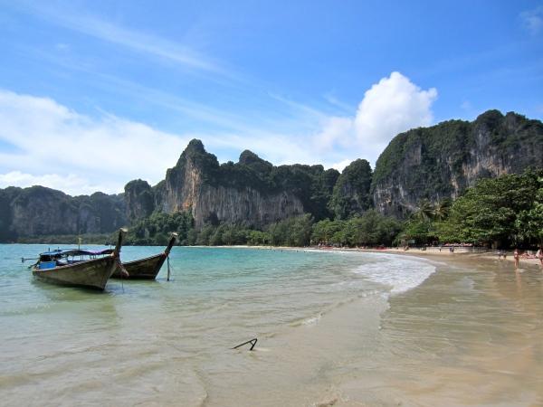 thailand, southwest coast, beaches in south thailand, krabi, railay beach, most famous beaches in the world, beautiful destinations