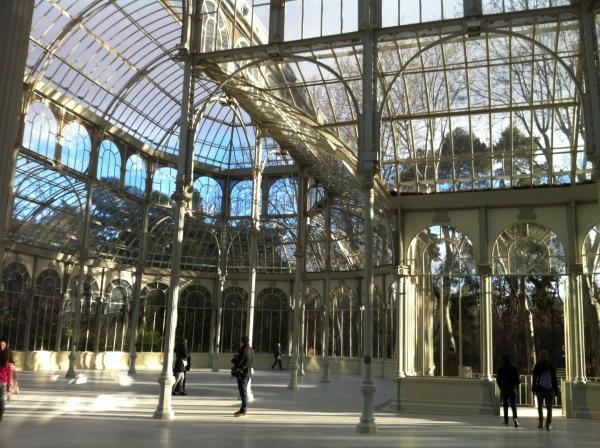 crystal palace, palacio de cristal, madrid, parc del retiro, cool places in madrid, spain, espanol