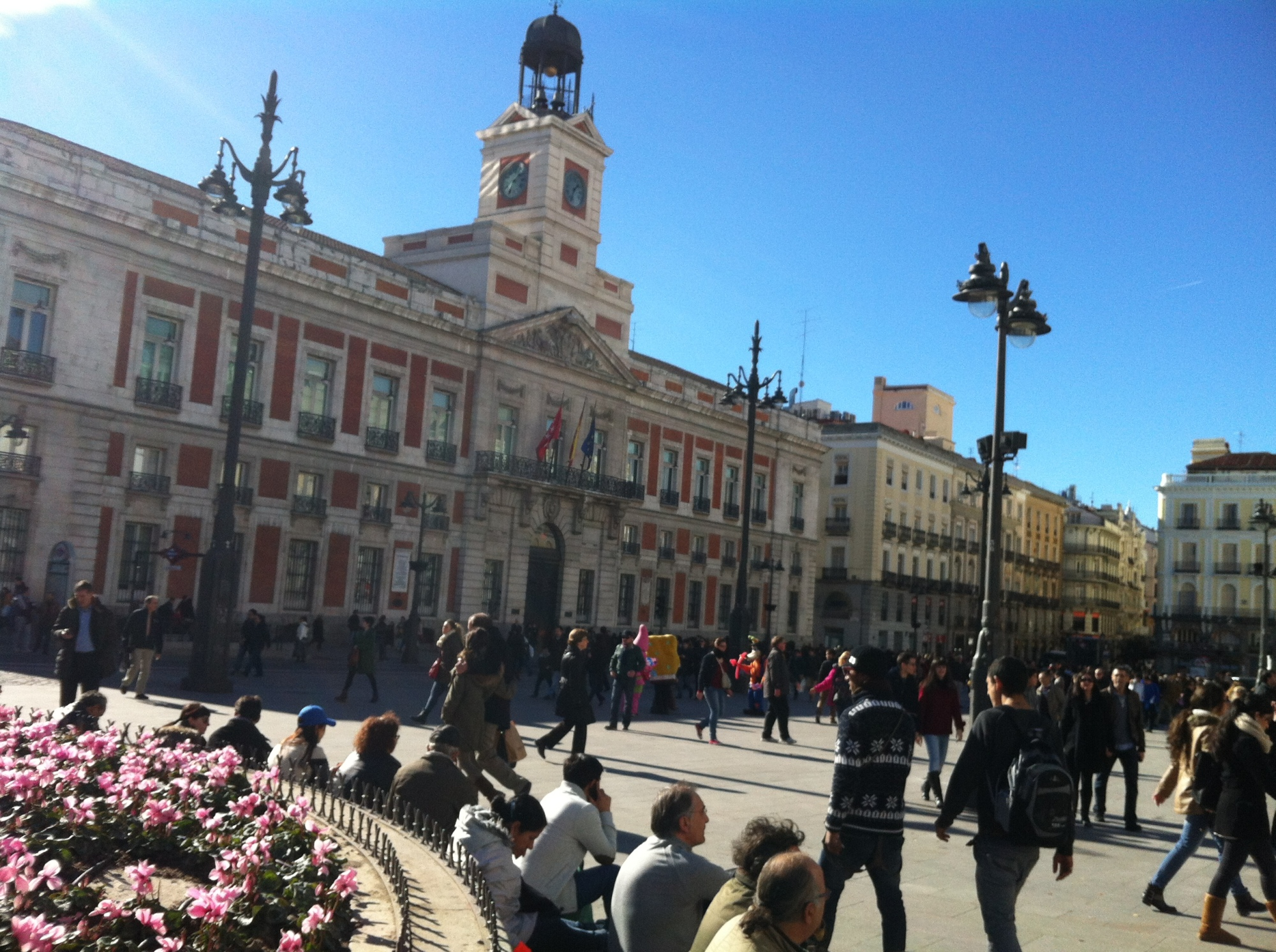 puertas del sol, madrid, vodafone sol, spain, european capitals, places to visit in europe