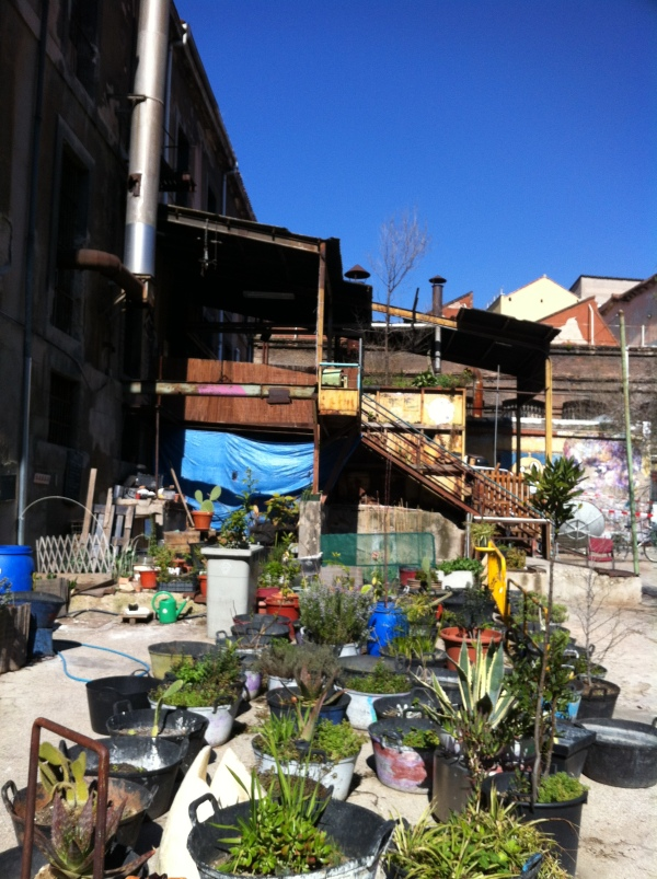 tabacallera, renting spaces in madrid, event space, street art, organic garden in the city, madrid, spain, europe, best hidden places in madrid