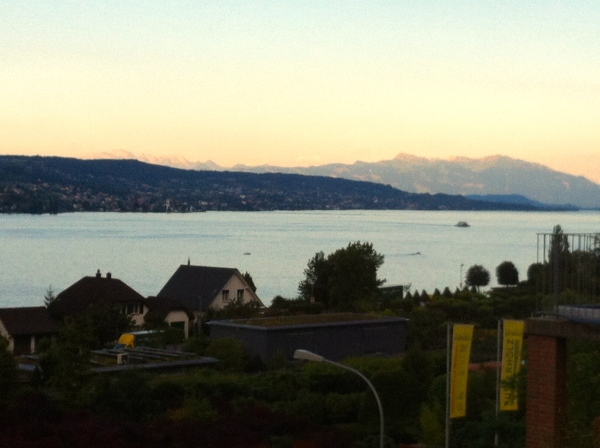 zurich, switzerland, swiss lakes, europe, central europe, sunset in lake zurich