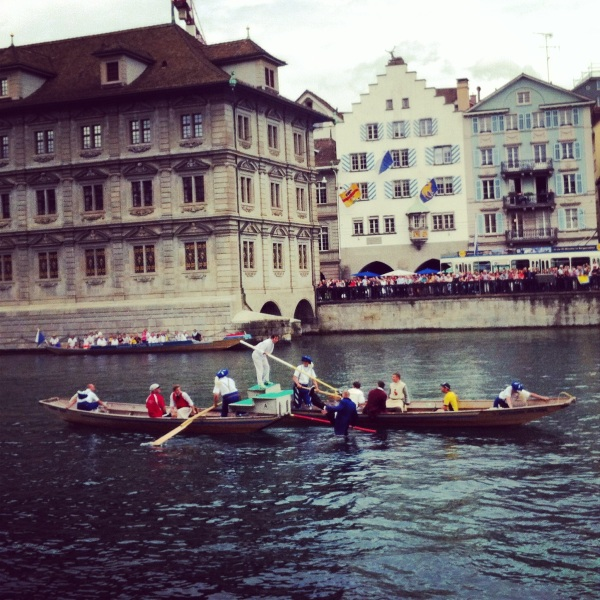 zurich, switzerland, crazy sports, dumbest sport ever, water sports, water games, swiss sports, river boats, zurich river