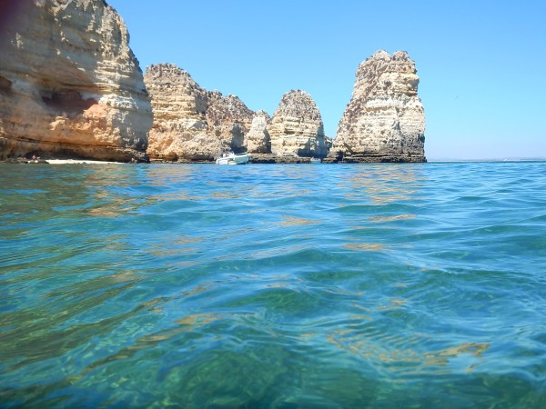 ponta da piedade, swimming in the atlantic ocean, atlantic water, algarve, south of portugal, best beaches in europe, where to go for the summer, best holiday destination, portuguese hidden places, best spots for vacation
