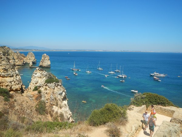 ponta da piedade, lagos, portugal, algarve, most touristic places in portugal, places to visit in the south of portugal, best beaches in europe