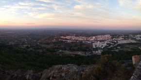 View from Nossa Sra da Penha, visit portugal, best hidden places to visit in portugal, best secret spot in castelo de vide, alentejo, summer sunsets, beautiful sunset photo