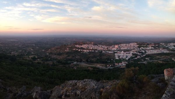 View from Nossa Sra da Penha, visit portugal, best hidden places to visit in portugal, best secret spot in castelo de vide, alentejo, summer sunsets, beautiful sunset photo